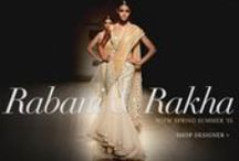 Rabani & Rakha | Shop Designer Wear! / From gorgeous anarkalis, gowns and saris in sheer fabrics, to brocade and lace embellished trousers, this vintage collection rightly defines bling is in.