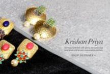 Krishan Priya Jewelry | Shop Earrings. / Let these enchanting earrings bedecked with pearls, turquoise and coral beads be your conversation starters.