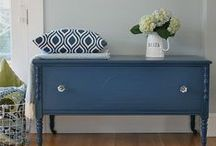 Colours - Blue / Feeling blue!  Cobalt, indigo and navy interiors and accessories.