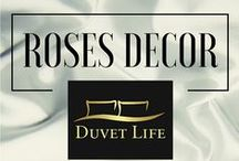 Roses Decor / Sleep like a Princess surrounded by Roses. Find your Chic Bedding Set on our website and follow this board for new arrivals. DuvetLife.com