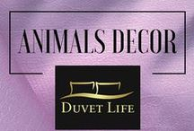 Animals Decor / Wild Animals Bedroom Decor.  Unleash the Fierce of Nature every night with our Wild Animals Bedding Sets. DuvetLife's selection of Nature and Animals Bedding sets to find your wild side.