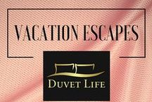 Vacation Escapes / Vacation Escapes Bedroom Designs. The world's most charming city views every night from the comfort of your bed. In this board you will find our Bedding Sets inspired by cities that will have you traveling around the world every time you go to sleep. DuvetLife.com