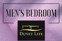 Men's Bedroom / Masculine Bedroom Decor.  Keep it classy and fun with our manly Bedding Sets. DuvetLife's special board for Man's Influence Bedroom Decor.