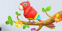 VINILOS DE PÁJAROS Y AVES / Una selección de todos nuestros vinilos de pájaros y aves. Una opción de decoración muy interesante usando pájaros en ramas o de otras formas para decorar una habitación infantil o un espacio destinado a adultos.