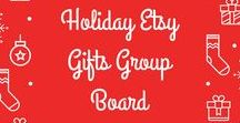 Holiday Etsy Gifts {Group Board} / Support Etsy sellers and pin the coolest gifts you can find!  If you'd like to be invited to pin to this board, simply follow the board and then leave a comment on one of my pins (Carmen Fadel). Please feel free to invite others to this board.  Rules: For every pin posted, repin the same amount (1:1).