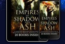 Empires of Shadow and Ash / Empires of Shadow and Ash, a boxed set of 20 urban fantasy, dystopian, and paranormal romance novels.