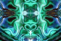 Crystal Rock Mandala / Inside the Soul of Crystal- Agate Amazonite  Amethyst Aquamarine Aragonite Calcite Celestite Citrine Quartz Flourite Tigers eye Jasper Unakite / by Robin Elise Ruiz