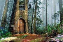 Tree houses / Tree houses we dream of playing in. A Fortress. Secret hide away  My club / by Robin Elise Ruiz