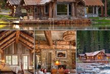 LOG CABIN LIFE! / Love The Log Cabin Homes! Because I love the snow, fires and log cabins. My dream retirement home!
