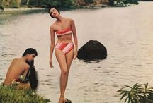 Vivian Charles Client Board: The Tara / Glamour, vintage travel, hibiscus, floral crowns