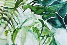 Akwarele - liście / Prace artysty