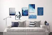 Akwarele - aranżacje Artistiqe / Przygotowane przez Artistiqe zestawy obrazów z wykorzystaniem prac z serii Akwarele.