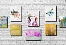 Yellow -aranżacje Emi Art / Aranżacje własne z obrazami w kolorze żółtym..
