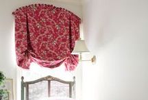 Window Treatments / Window treatments and other assorted slipcovers, lampshades etc to make / sew. / by Cindy Lou Who