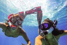 underwater. / by Kaley Buttars