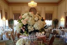 Wedding Centerpieces / Beautiful centerpieces at the Hawthorne Hotel and by Hawthorne Catering