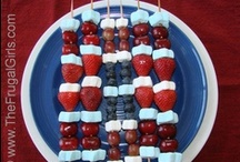 4th of July / Planning a Fourth of July Party?  You'll love these fun 4th of July Recipes and Red, White, and Blue Crafts! / by Heidi at TheFrugalGirls.com