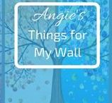 Angie's Things for My Wall / It can hang on the wall? Then Pin it here!