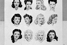 Vintage Hair: Inspiration / Original photos and drawings of 1940's and 1950's hairstyles. / by Miss Vintage