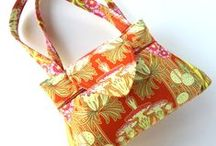 Awesome Orange Bags / Sewing Inspiration, Patterns, and Tutorials