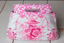 Pretty in Pink Bags / Beautiful samples of bags created using a sewing tutorial, pattern, or project featured at PatternPile