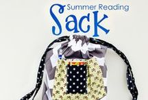 Library Book Bags / Sewing tutorials, projects and patterns for Library Book Bags.