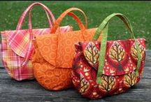 Autumn Bags / Bags to sew for autumn, as well as PDF patterns for quilted wall hangings, placemats, home decor, and more.  Think cinnamon, nutmeg, and pumpkin.  Velvets, tweeds, and wools.