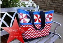 Red, White, and Blue Sewing Projects / Patriotic quilting and sewing projects, patterns and tutorials!