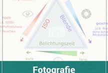 Fotografie Infografiken / Infografiken rund um das Thema Fotografie - Begriffe wie Blende, Belichtungszeit, ISO, Brennweite, Schärfeebene usw. sind einfacher mit einer grafischen Darstellung zu erklären.
