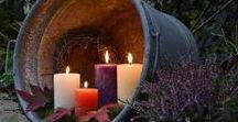 Garten Beleuchtung / Garten Licht, Garten Beleuchtungsideen in Form von Kerzen, Lichterketten, Gartenlaternen und LED Leuchten sowie Feuerstellen.