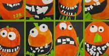 Halloween basteln / Halloween basteln mit Kindern. Tolle Dekoration mit Hexe, Kürbis, Spinne, Fledermaus und Co. Auch Halloween Einladung Vorlagen.
