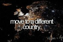 bucket list / Someday, I want to travel around the world...