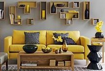 Yellow: Design Inspiration / Cheery and youthful, yellow brightens up a room and sets the tone for a good, blissful day!