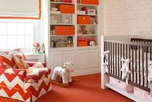 Orange: Design Inspiration / Vivid, loud, and fun, orange draws in the eye and shows that you aren't afraid of a little color.