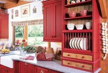 Ruby Red: Design Inspiration / Red is a warm, inviting, and energizing color. Who can't use a little red in their life?