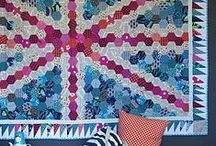Quilts - hexagons / Everything hexagon, hexies <3