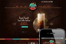 Design | Web design / Web design ideas, color themes and inspiration.