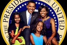 President Obama and The Family / Barack H. Obama was elected the 44th President of the United States on November 4, 2008, and sworn in on January 20, 2009. He and his wife, Michelle, are the proud parents of two daughters, Malia, and Sasha.  / by Donna Crantshaw
