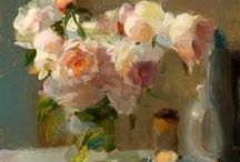 Floral Art / Beautiful Flowers in art, paintings of flowers, floral still life