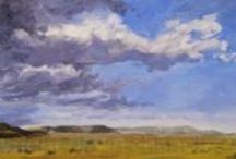 traditional landscape paintings ~ by dawn chandler {taosdawn} / paintings of the land around her, painted in oil, in a 'traditional' contemporary impressionistic style by santa fe artist dawn chandler