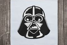 Star Wars Machine Embroidery Designs / Embroidery designs and digital patterns for embroidery machine of Darth Vader, C3PO, R2D2, Stormtroopers....  Instant Download. May the force be with you!!