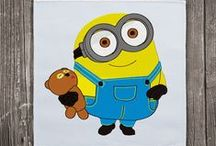 Minions machine embroidery designs / Despicable Me machine embroidery collection. Enjoy the best embroidery designs of the Minions.