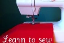 learning to sew / by Rebecca Severson