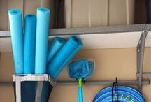"""Garage Organization Products / Keep the """"Mans Kitchen"""" in check! These are some products to organize your #garage, some from Garage Rack Storage, some from other places!"""