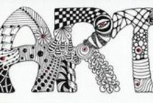 Lettering and Zentangles