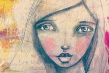 Art & Mixed Media Love: Faces, People, & Portraits / by Crafty Lou