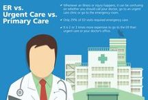 #RightCareForYou / Not sure when you should go to the emergency room, urgent care or primary care? Find out!