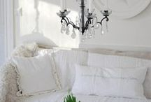 Cozy White Chic / I still love the look and feel of a shabby chic home.
