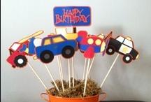 Lawson's 2nd Birthday / Ideas for Lawson's transportation theme Birthday Party / by Sara Head