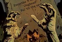 Afterlife with Archie / What if the zombie apocalypse began in Riverdale? This horror comic answers that question on Oct 9 2013 by Roberto Aguirre-Sacasa & Francesco Francavilla. TEEN+